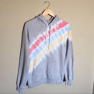 American Apparel Tie Dye Rainbow Sweatshirt